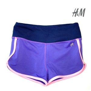 H&M Sport Kids Girls Active Shorts 4-6